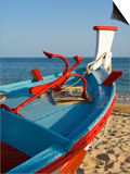 Traditional Fishing Boats, Algarve, Portugal Posters by Katja Kreder