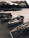 Rowing Boats, Derwent Water, Lake District, Cumbria, UK Poster by Doug Pearson