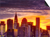 USA, New York, Manhattan, Midtown Skyline and Chrysler Building Posters by Alan Copson