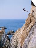La Quebrada, Cliff Diver, Acapulco, Mexico Art by Steve Vidler