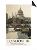London, England - Great Western Railway St. Paul's Travel Poster Posters