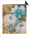 Pretty Blue Dahlias 2 Art by Vera Hills