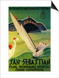 San Sebastian Vintage Poster - Europe Prints by  Lantern Press