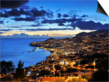Funchal at Sunset, Madeira, Portugal Art by Mauricio Abreu