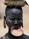 Woman of the Mursi Tribe, Her Clay Lip Plate Shows That She Is Married, Ethiopia Posters by John Warburton-lee