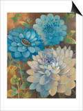 Pretty Blue Dahlias 1 Posters by Vera Hills