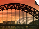 Newcastle and Gateshead, Tyne Bridge and the Sage, Tyne and Wear, England, UK Art by Alan Copson
