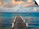 Venezuela, Archipelago Los Roques National Park, Gran Roque, Pier Prints by Jane Sweeney