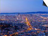 City Skyline Viewed from Twin Peaks, San Francisco, California, USA Art by Gavin Hellier