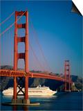 Golden Gate Bridge and Cruise Ship, San Francisco, California, USA Posters by Steve Vidler