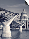 St. Paul's and Millennium bridge, London, England Prints by Doug Pearson