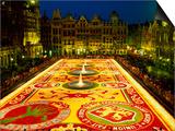 Grand Place, Floral Carpet, Brussels, Belgium Prints by Steve Vidler