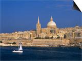 City Skyline, Valetta, Malta Art by Steve Vidler