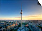 Germany, Berlin, Alexanderplatz, Tv Tower (Fernsehturm) Print by Michele Falzone