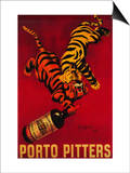 Porto Pitters Vintage Poster - Europe Poster by  Lantern Press
