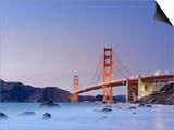 California, San Francisco, Baker's Beach and Golden Gate Bridge, USA Art by Michele Falzone