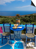 Tavern Near Chora Sfakion, Crete, Greece Prints by Katja Kreder