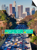 Pasadena Freeway (CA Highway 110) Leading to Downtown Los Angeles, California, USA Posters by Gavin Hellier