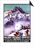 Villars, Switzerland - Naughty Gnomes Making Giant Snowball Poster Posters