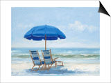 Beach Chairs 1 Prints by Jill Schultz-Mgannon