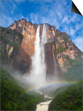 Venezuela, Guayana, Canaima National Park, View of Angel Falls from Mirador Laime Posters by Jane Sweeney
