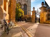 UK, England, Cambridgeshire, Cambridge, Trinity Lane, King's College Chapel Posters by Alan Copson