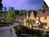 Castle Combe, The Cotswolds, Wiltshire, England Prints by Rex Butcher