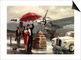 Transcontinental Flight Prints by Brent Heighton