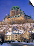 Chateau Frontenac Hotel, Quebec City, Quebec, Canada Poster by Walter Bibikow