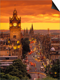 Princes St., Calton Hill, Edinburgh, Scotland Poster by Doug Pearson