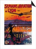 Semaine d' Aviation De Lyon Vintage Poster - Europe Prints