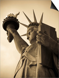 USA, New York, Statue of Liberty Poster by Alan Copson