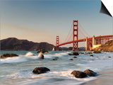 California, San Francisco, Baker's Beach and Golden Gate Bridge, USA Posters by Michele Falzone