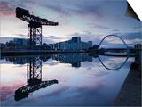 Scotland, Glasgow, Clydebank, the Finneston Crane and Modern Clydebank Skyline Prints by Steve Vidler
