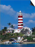 Lighthouse at Hope Town on the Island of Abaco, the Bahamas Print by William Gray