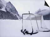 Ice Skating Equipment, Lake Louise, Alberta Prints