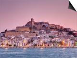 Michele Falzone - Španělsko, Baleáry, Ibiza, Pohled na staré město Ibizy, D'alt Vila, Světové dědictví UNESCO Obrazy