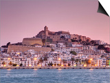 Michele Falzone - Spain, Balearic Islands, Ibiza, View of Ibiza Old Town (UNESCO Site), and Dalt Vila - Reprodüksiyon