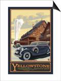 Old Faithful Inn, Yellowstone National Park, Wyoming Prints