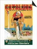 Cartel de carrera ciclista Pósters por  Lantern Press