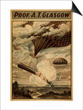 Glasgow Hot Air Balloon Circus Theatre Poster Print