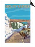 Entrance to Park, Mt. Rainier National Park, Washington Prints by  Lantern Press