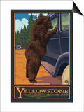 Don't Feed the Bears, Yellowstone National Park, Wyoming Poster by  Lantern Press