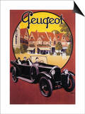 France - Peugeot Automobile Promotional Poster Prints by  Lantern Press
