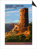 Desert View Watchtower - Grand Canyon Posters by  Lantern Press