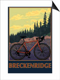 Breckenridge, Colorado - Mountain Bike Prints by  Lantern Press