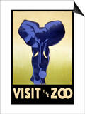 Visit the Zoo - Elephant Charging Posters by  Lantern Press