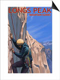 Longs Peak Mountain Guides - Colorado Poster by  Lantern Press