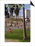 Venice Beach, California - Boardwalk Scene Posters by  Lantern Press