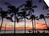 USA, Hawaii, Oahu, Honolulu, Waikiki Beach, Kapiolani Park Prints by Michele Falzone